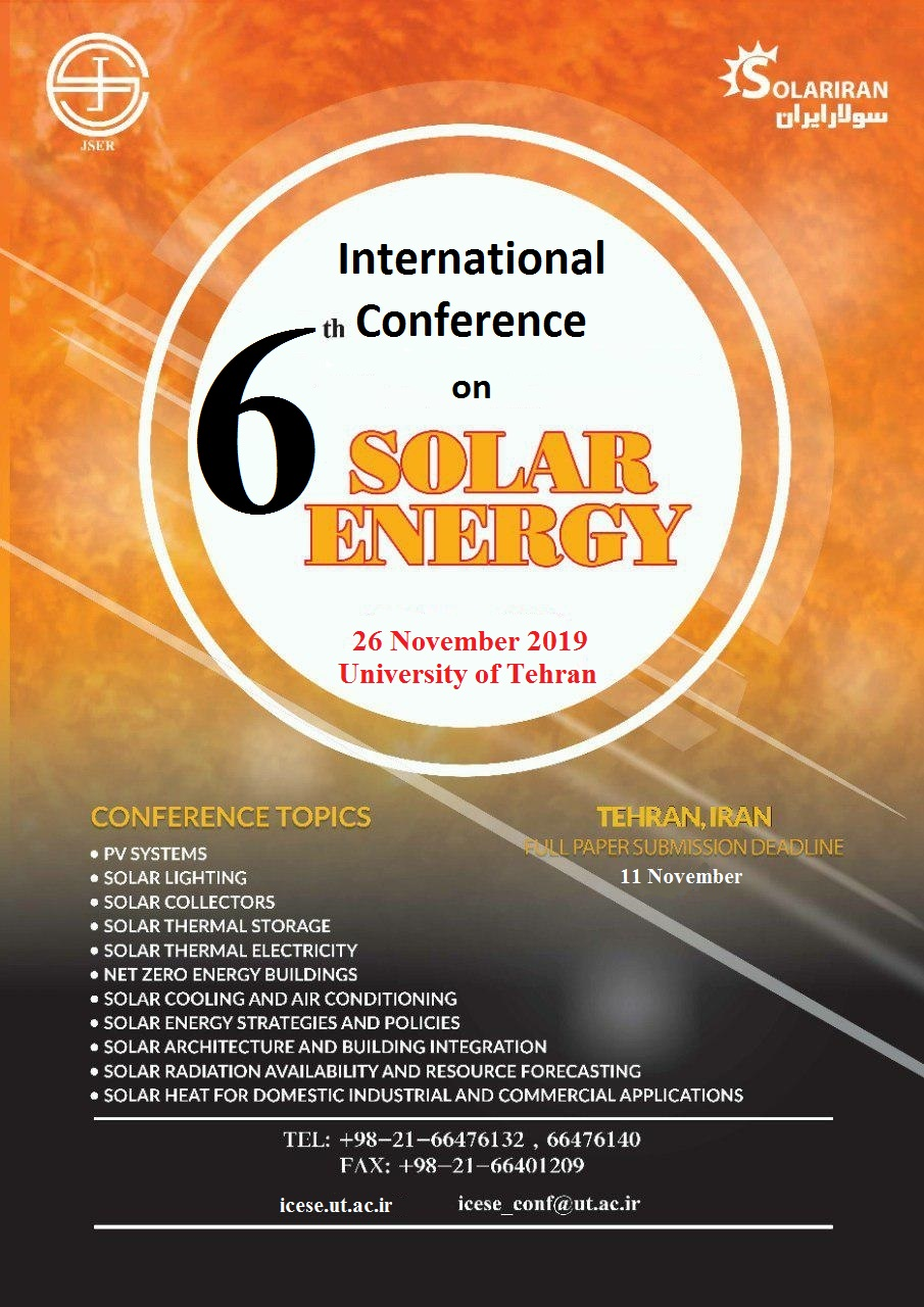 The 6th International Conference on Solar Energy